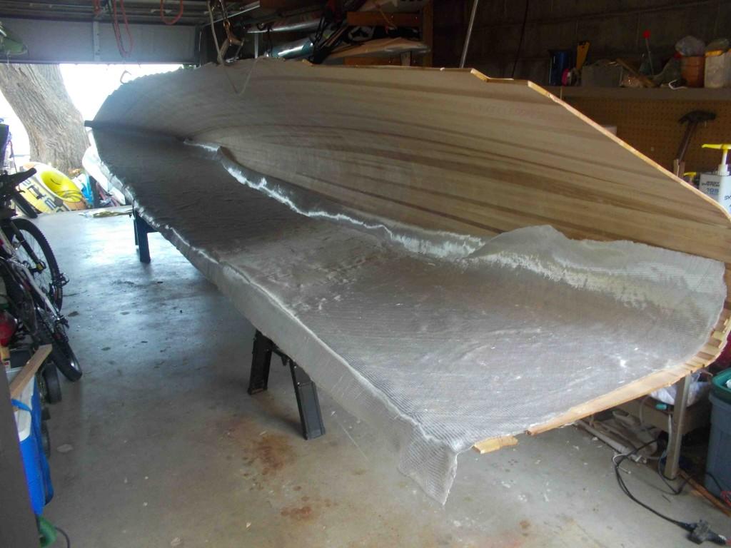 glassing inside of hull